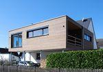 casa prefabbricata / moderna / con struttura in legno / con terrazza