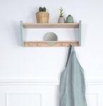 scaffale a muro / design scandinavo / in legno massiccio / in MDF laccato
