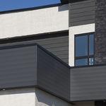rivestimento di facciata in alluminio / liscio / a doghe / aspetto legno