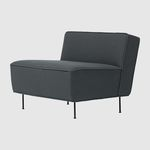 chauffeuse design scandinavo / in tessuto / nera / marrone