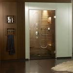 Box doccia a vapore / in pietra naturale / rettangolare / con porta battente  KLAFS