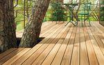 listello per esterni in teak / aspetto legno