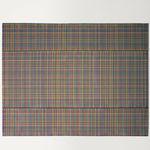 tappeto moderno / a quadretti / in tessuto / rettangolare