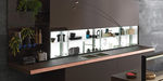 scaffale moderno / in vetro / per cucina / illuminato
