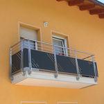 balcone a pannelli / a sbarre / in acciaio inox