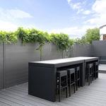 recinzione da giardino / a lamelle / in alluminio / modulare