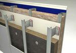 isolante termico / in lana di roccia / per facciate / in pannelli