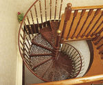 Scala a chiocciola / struttura in metallo / gradini in metallo / senza alzata WITH 3 BALUSTERS PER TREAD British Spirals & Castings