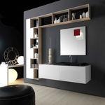 Mobile lavabo sospeso / in laminato / moderno / con specchio KS #2 karol