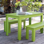Tavolo da pic nic / rettangolare / da giardino / moderno LOLLYGAGGER Loll Designs