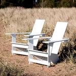 sedia moderna / adirondack / in polietilene / da esterno