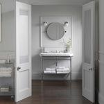 specchio da bagno a muro / moderno / tondo / in acciaio