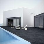 piastrella per bagnasciuga di piscina / da pavimento / in gres porcellanato / a tinta unita