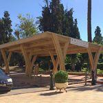 tettoia per posto-auto in legno / professionale / con pannelli fotovoltaici integrati