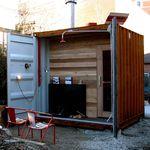 sauna per uso residenziale / in legno / per esterni