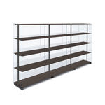 libreria alta / moderna / contract / in alluminio