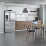 cucina professionale in legno / con impugnature / per ufficio