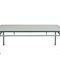 tavolino basso classico / in alluminio laccato / rettangolare / da giardino
