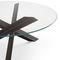 Tavolo moderno / in vetro / in acciaio / in acciaio inossidabile BOLT B&B Italia