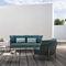 divano moderno / da giardino / in tessuto / in fibre sintetiche