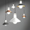 lampada a sospensione / moderna / in acciaio laccato / in vetro