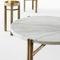 tavolino basso moderno / in marmo / in ottone / rettangolare