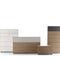 cassettone moderno / in legno / bianco / marrone