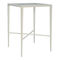 tavolo alto classico / in vetro temprato / in alluminio / quadrato