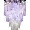 lampadario moderno / in vetro di Murano / in acciaio inossidabile / LED