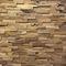paramento di pietre / in teak / indoor / 3D