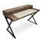 scrivania in legno / in pelle / moderna / con vano contenitore