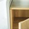comodino moderno / in quercia / in legno massiccio / in calcestruzzo
