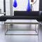 tavolino basso moderno / in acciaio laccato / in calcestruzzo / rettangolare