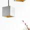 lampada a sospensione / design minimalista / in calcestruzzo / fatta a mano