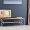 mobile porta TV moderno / lowboard / in quercia / in acciaio