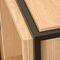 scaffale moderno / in quercia / impiallacciato in legno / in acciaio con rivestimento a polvere