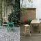 Sgabello da bar moderno / in faggio / in tessuto / in ecopelle NHINO by Emilio Nanni Traba'