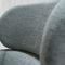poltrona moderna / in faggio / in tessuto / con poggiapiedi