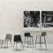 Sedia alta moderna / in tessuto / in pelle / in metallo BARDOT MET by Emilio Nanni Traba'
