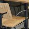 sedia visitatore moderna / impilabile / con braccioli / in quercia