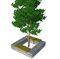Griglia per alberi in acciaio / in acciaio galvanizzato / in pietra / quadrata ENTOURAGE ARBRE GABION ID GABION - L'AGENCE URBAINE