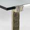 Tavolino basso classico / in vetro / in metallo verniciato / in ferro modellato GEOGLYPHE Mobilier De Style