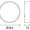plafoniera moderna / tonda / in alluminio / in policarbonato