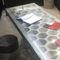 tavolo moderno / in marmo / in travertino / rettangolare