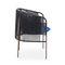 sedia moderna / con braccioli / in acciaio / in plastica