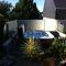 recinzione da giardino / a pannelli / in vetro