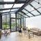 veranda in alluminio / tuttovetro / per piscina / con persiana avvolgibile integrata