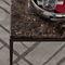 tavolino basso moderno / in quercia / in metallo / in marmo