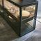credenza con alzata moderna / in vetro / in alluminio