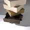 cassettiera moderna / in legno / beige